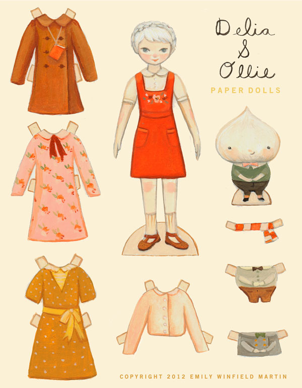 Delia & Oliie paper dolls