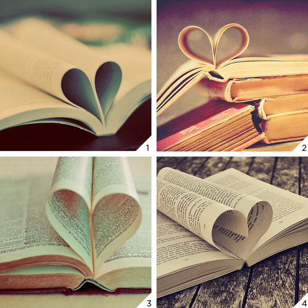 book hearts love