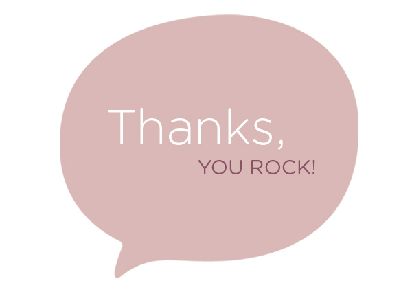 Thanks, you rock