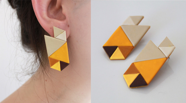 RYKA Geometric Earring Banana