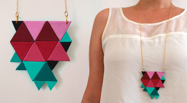 RYKA Geometric Necklace Melancia