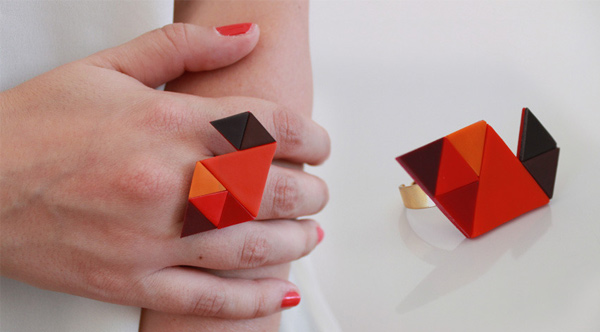 RYKA Geometric Ring Caju