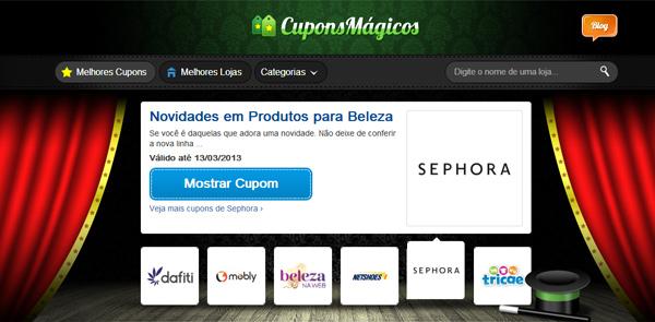 Cupons Mágicos website