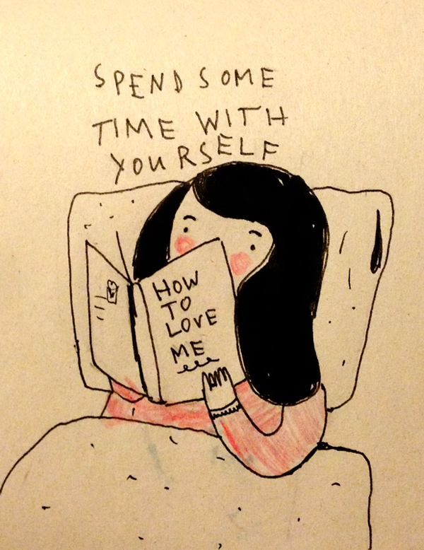 Saskia Keultjes illustration: Spend some time with yourself