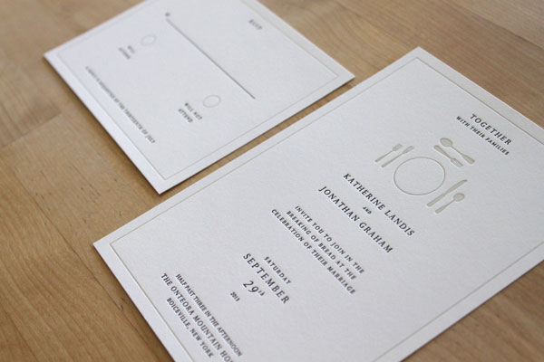 Moontree Letterpress - Heritage Collection - Wedding Feast