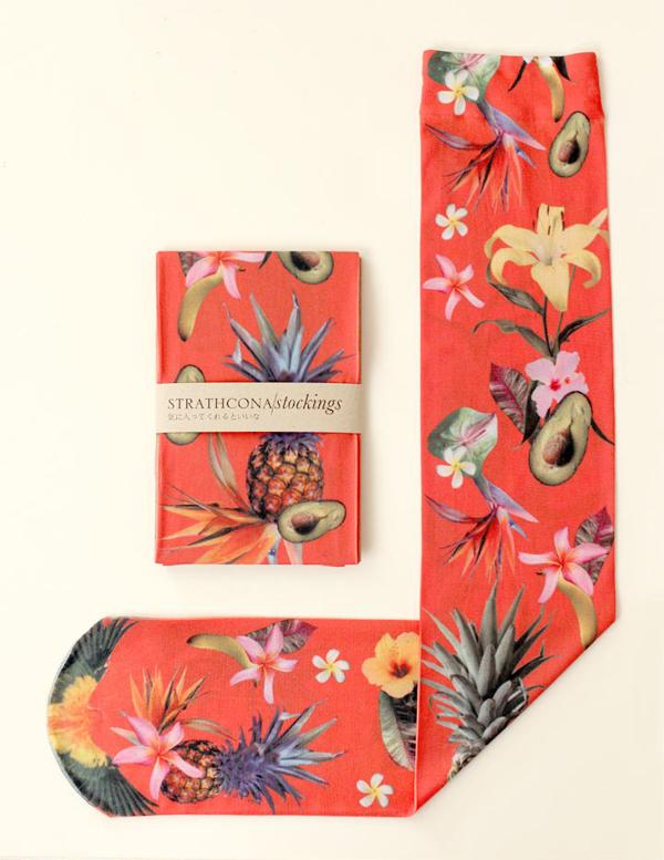Strathcona Stockings - Tropical Fruit Punch Socks