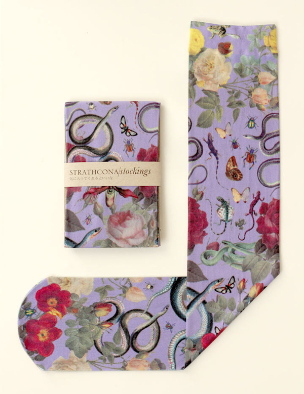 Strathcona Stockings - Purple Swamp Socks
