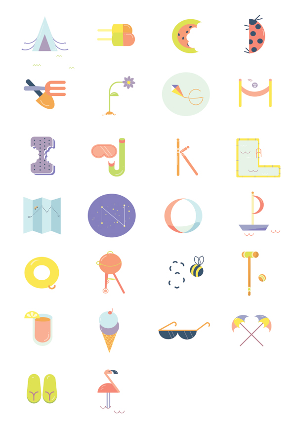 Summer Alphabet by Anne Lee Designs