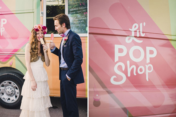 popsicle truck wedding