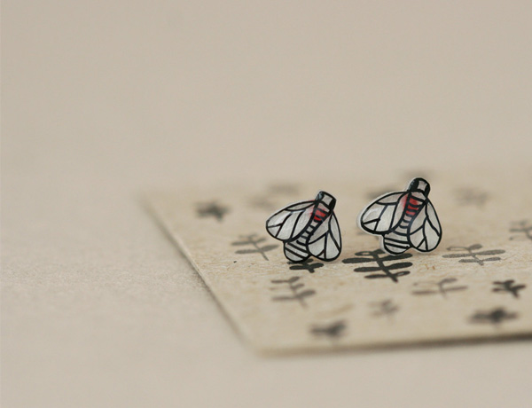 Lila Ruby King - Fruit Fly Earring Studs