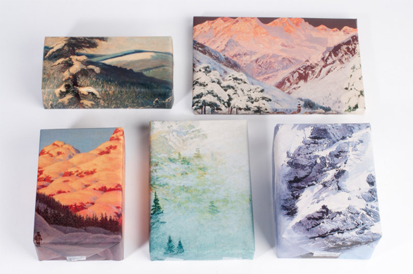 gift wrap: Mountain Range