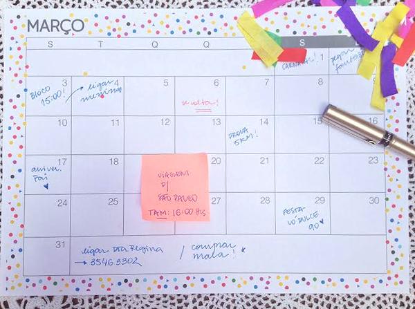 Planejamento mensal - março de 2014