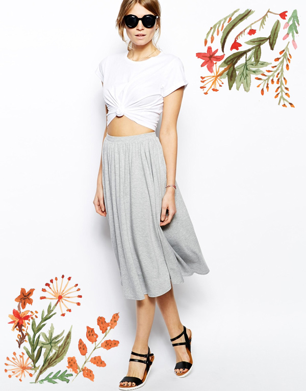 ASOS Full Midi Skirt
