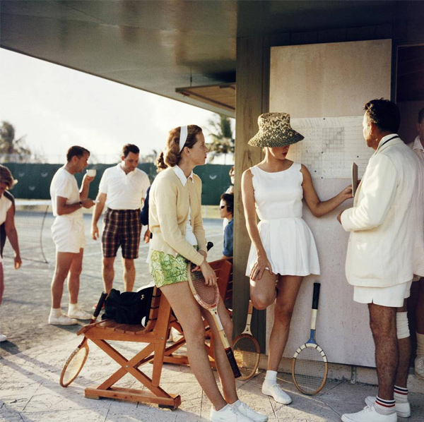 Tennis in the Bahamas, 1957, by Slim Aarons
