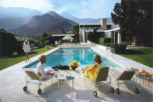 A desert house in Palm Springs designed by Richard Neutra for Edgar Kaufman, by Slim Aarons
