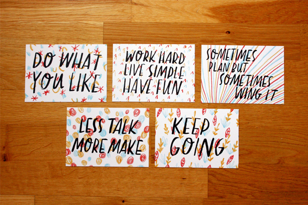 Nice advice postcards
