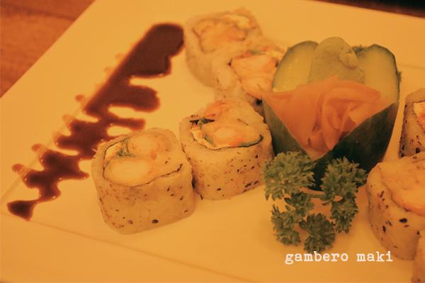 Wasabi Sushi - gambero maki