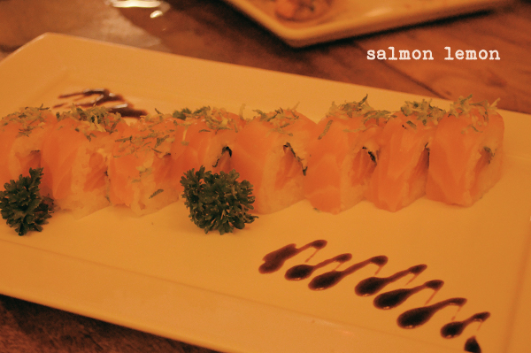 Wasabi Sushi - salmon lemon