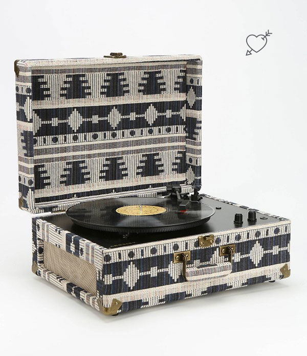 Crosley Geo Fabric Vinyl Record Player