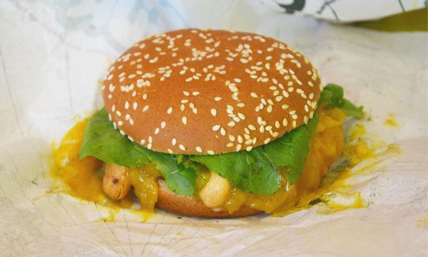 Hareburger - Hare Rock Shutney Mango's Fly