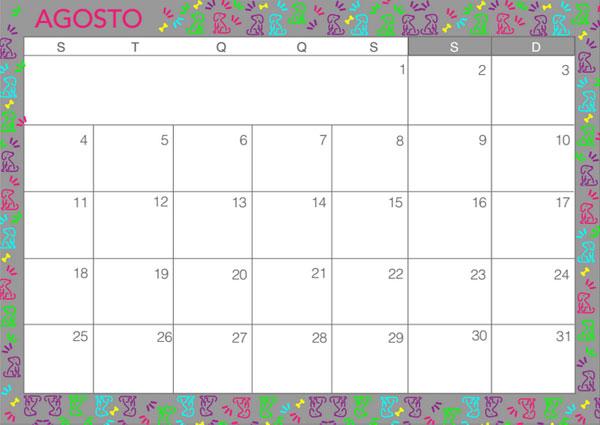 Planejamento mensal - agosto de 2014