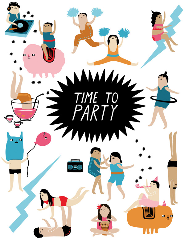 Partytime, by Laura Berger