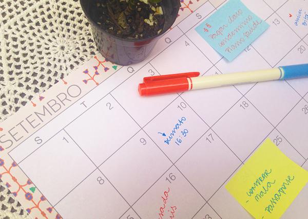 Planejamento mensal - setembro de 2014