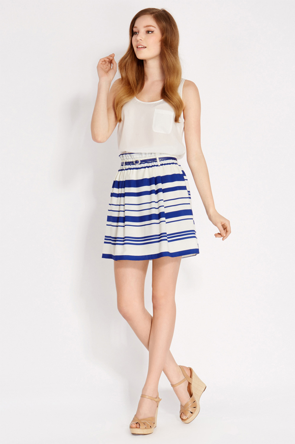 Oasis Stripe Paperbag Skirt