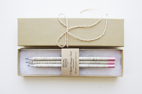 Recycled Newspaper Pencils, by Social Goods Co.