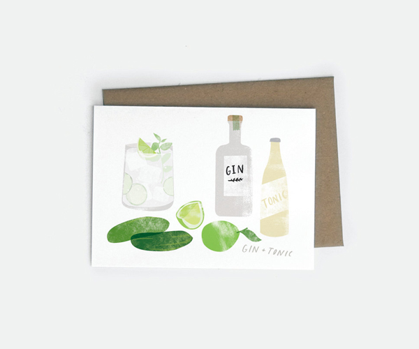 Red Cruiser card - Gin and Tonic