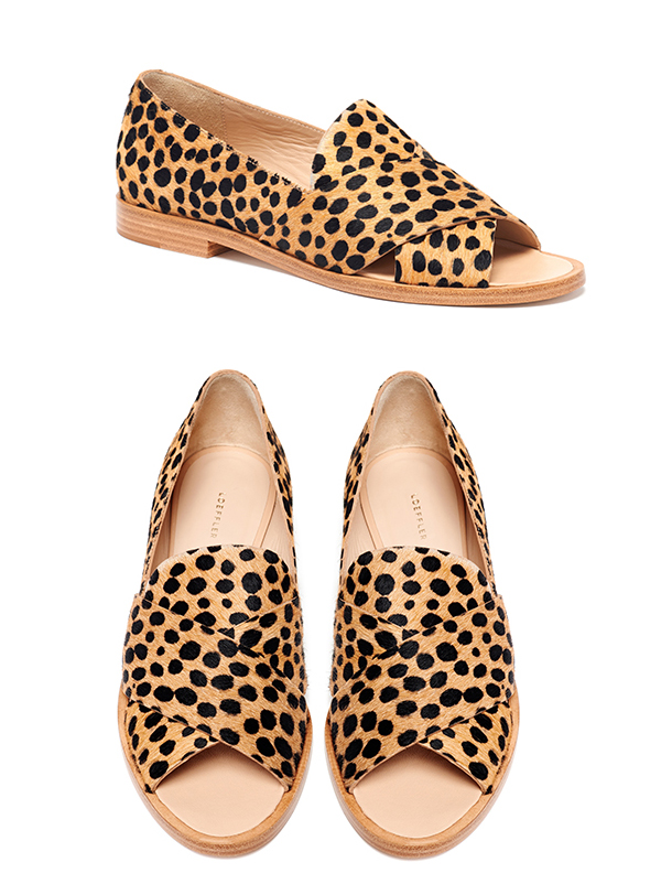 Hannele Open Loafer - Cheetah printed haircalf