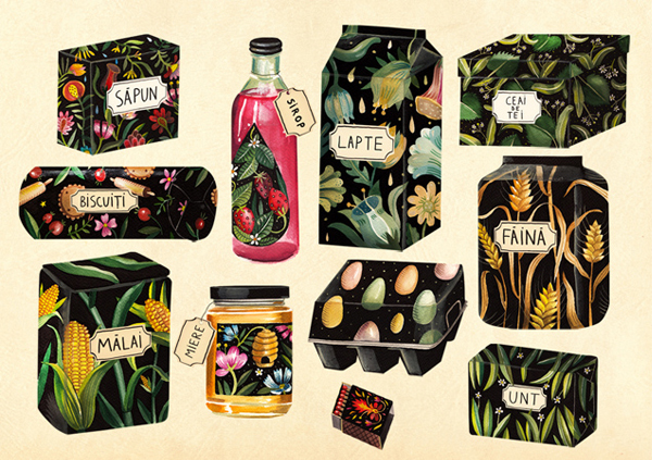 Packaging design by Aitch