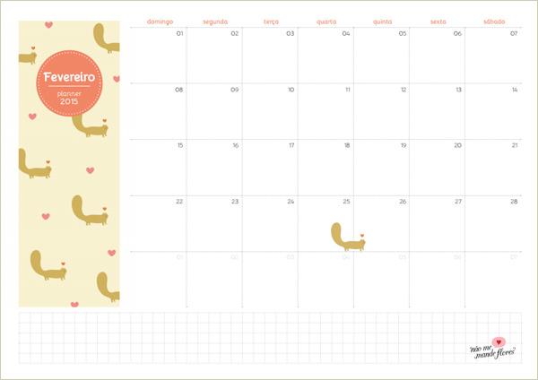 Planejamento mensal - fevereiro