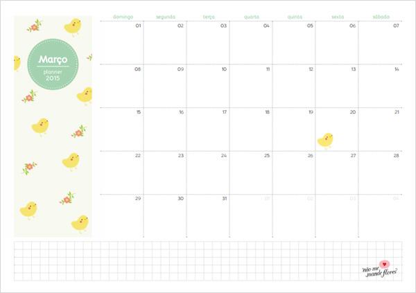 Planejamento mensal - março de 2015