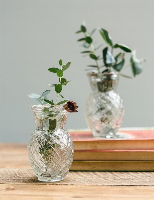 Rose & Grey - Little Glass Pineapple Vase