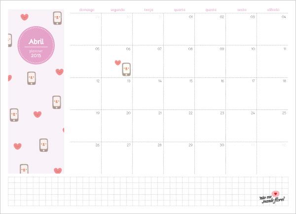 Planejamento Mensal - abril de 2015