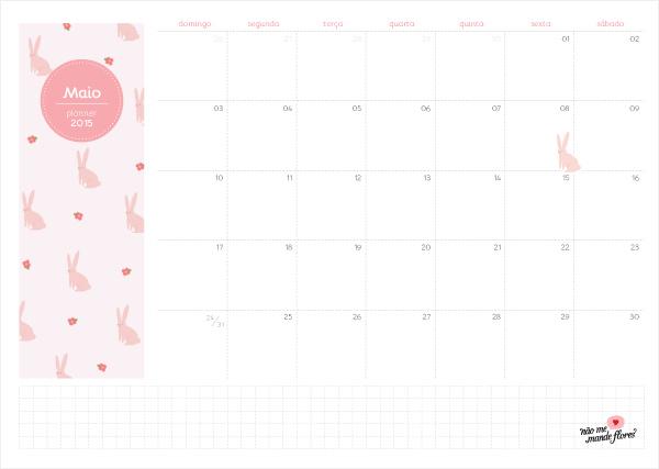 Planejamento mensal 2015 - maio