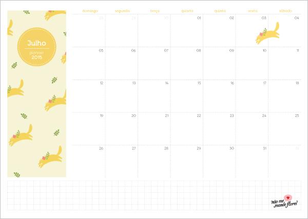 Planejamento mensal 2015 - julho
