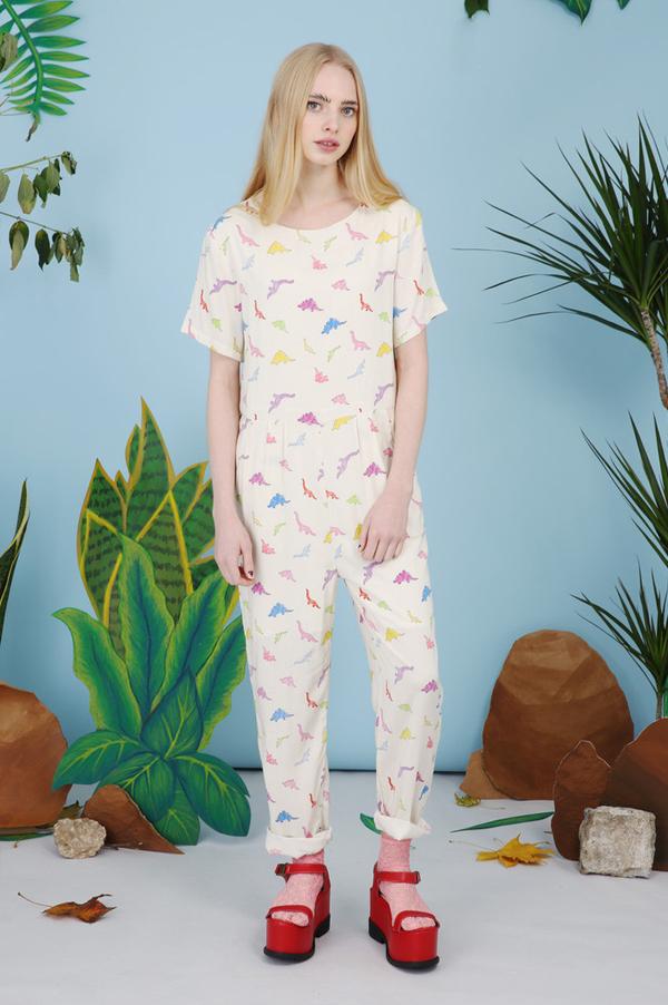 The Whitepepper - Dinosaur Print Jumpsuit