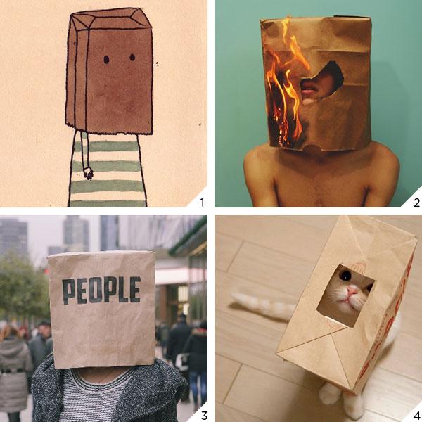 paper bag head_LOVE