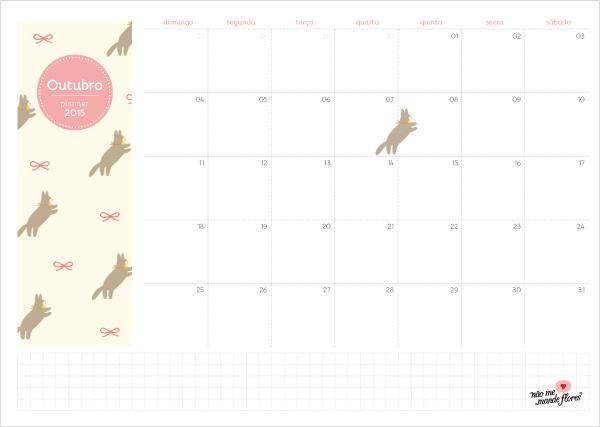 Planejamento mensal - outubro de 2015