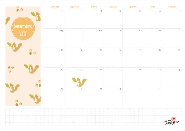 Planejamento mensal 2015 - setembro