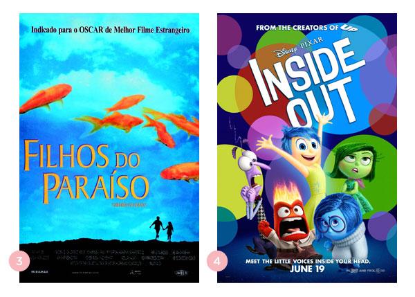 Os quatro últimos filmes: Os filhos do paraíso + Divertida Mente | BLOG Não Me Mande Flores