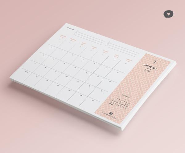 Planner Mensal 2016 - Janeiro | Blog Não Me Mande Flores