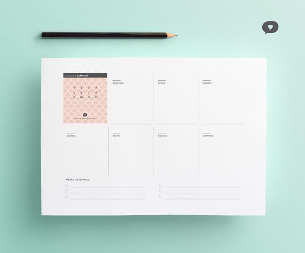 Planner Semanal 2016 - Janeiro | Blog Não Me Mande Flores