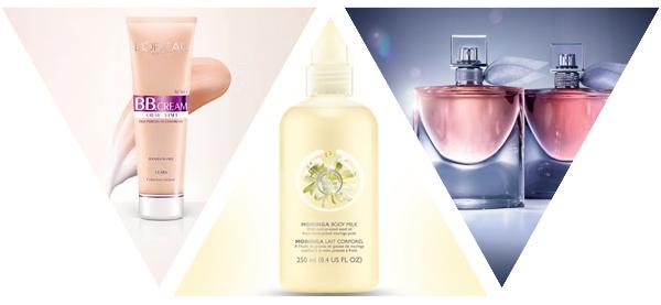 Queridinhos de beleza   março de 2016   L'Oréal Paris BB Cream + The Body Shop Moringa + Lancôme La Vie est Belle