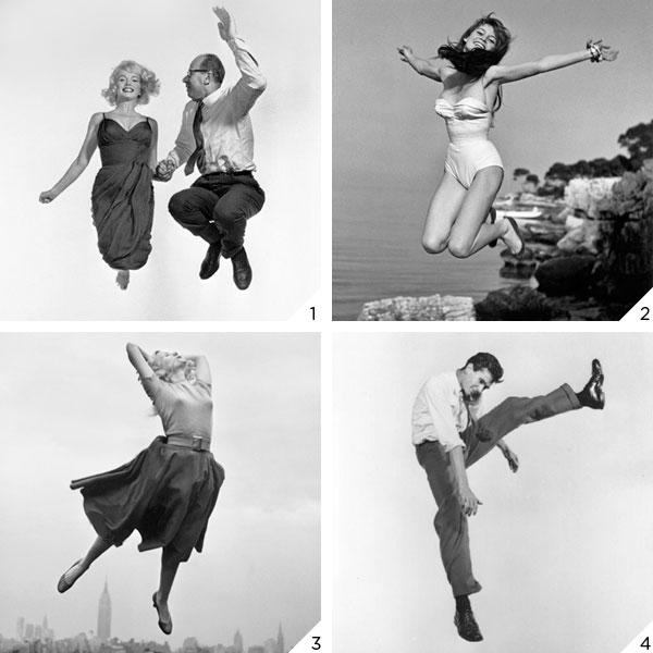 Os pulos de Philippe Halsman: Marilyn Monroe & Arthur Miller, Brigitte Bardot, Eva Marie Saint e Anthony Perkins