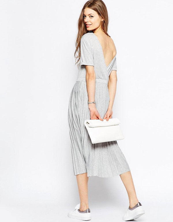 ASOS New 90's - TALL Pleated Midi Dress