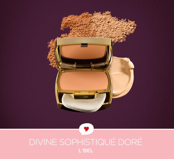 L'Bel Divine Sophistiqué Doré | pó compacto duplo uso