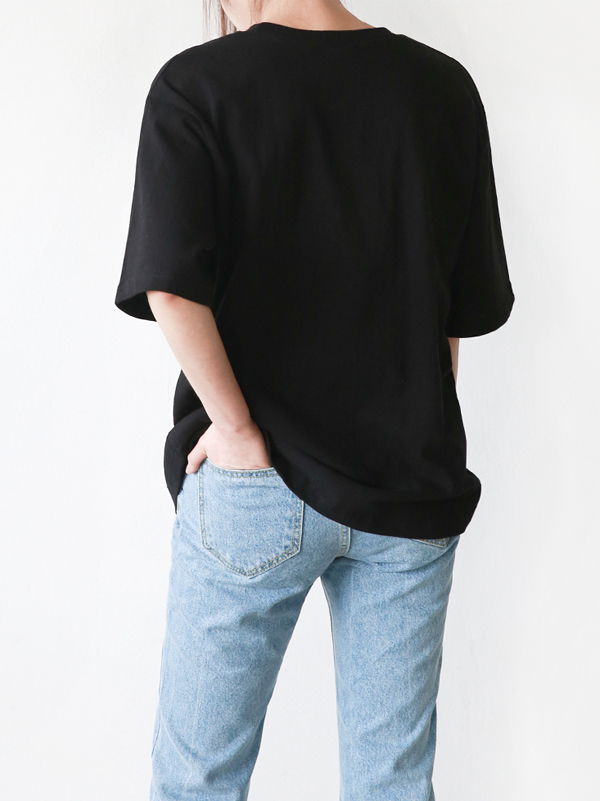 Baton | Everyday Cotton Tee + Plain Slim Denim Pants